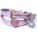 Pink Swarovski Cat Heart Collar