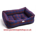 Dog Box Bed Polyester - Black Royal Tartan