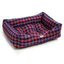 Gingham Pink Polyester Dog Box Bed