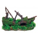 Aquarium Shipwreck Grass Moss Aquarium Ornament