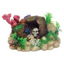 Rock Cave with Skull & Treasure