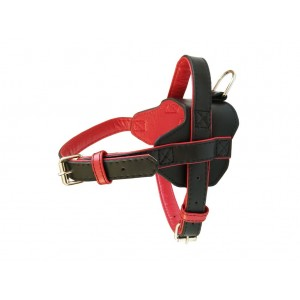 Dog Harness Leather Fusion Black