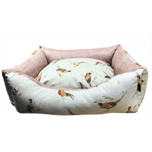 Country Pheasant Settee Dog Bed
