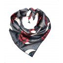WOLF & ROSE GREY DOG BANDANA