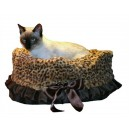 Cheetah Reversible Snuggle Bugs Pet Bed