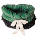 Green Plaid  Reversible Snuggle Bugs Pet Bed