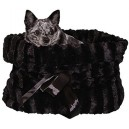 Black Reversible Snuggle Bugs Pet Bed